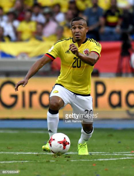 MacNelly Torres of Colombia controls the ball during a match between Colombia and Bolivia as part of FIFA 2018 World Cup Qualifiers at Metropolitano...