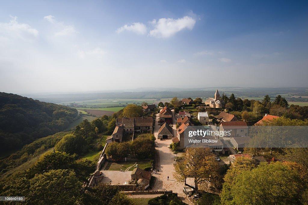 Maconnais Area, Brancion, village overview : Stock Photo