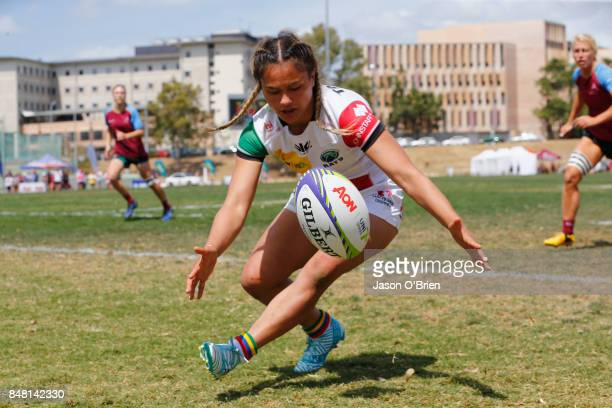 Macquarie's Nita Maynard during the Women's University Sevens match between Macquarie University and UQ on September 17 2017 in Brisbane Australia