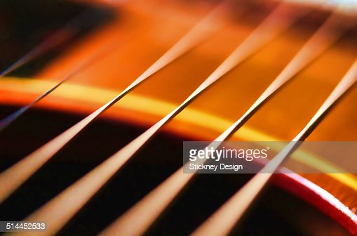 macro closeup of vibrating guitar strings stock photo getty images. Black Bedroom Furniture Sets. Home Design Ideas