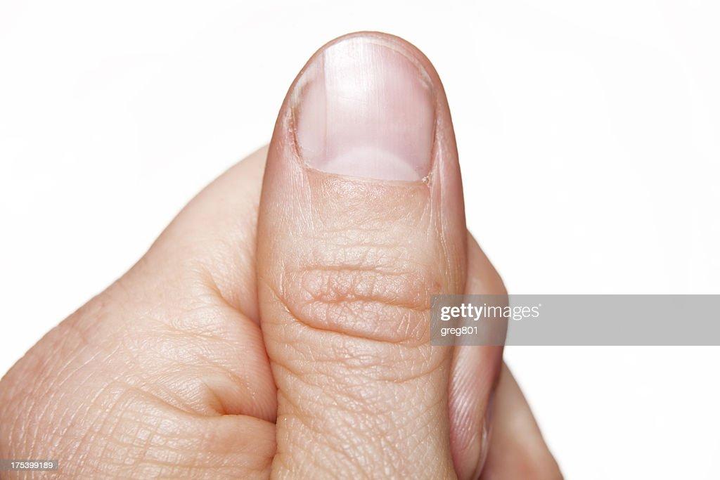 macro close-up thumb finger