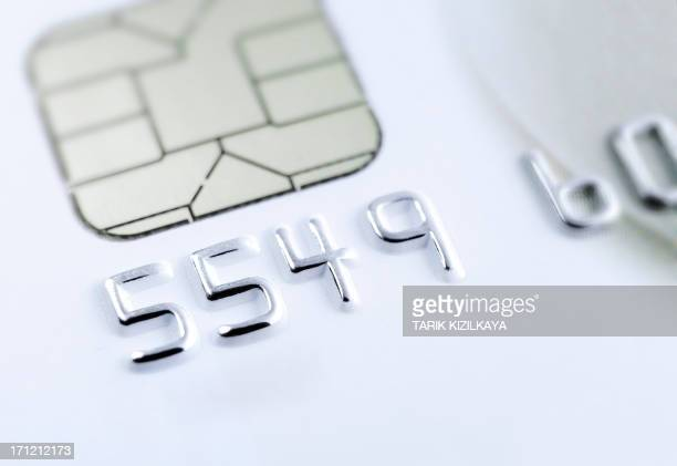 Macro Credit card chip