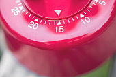 Macro Of A Kitchen Egg Timer - 15 Minutes
