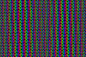Macro of CRT computer screen