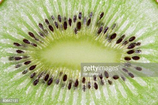 macro of sliced kiwi  : Stock Photo