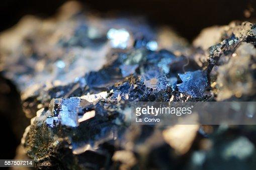 Macro Pyrite mineral : Stock Photo