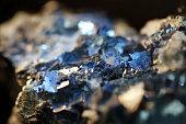 Macro Pyrite mineral