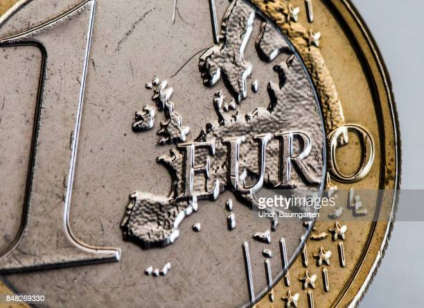 Macro shot of an 1 euro coin