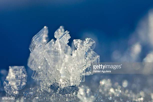 Macro shot of ice crystal.