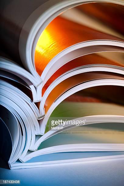 Makro Schuss von eröffnete Zeitschriften