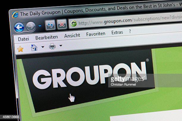 GROUPON - Macro shot of real monitor screen
