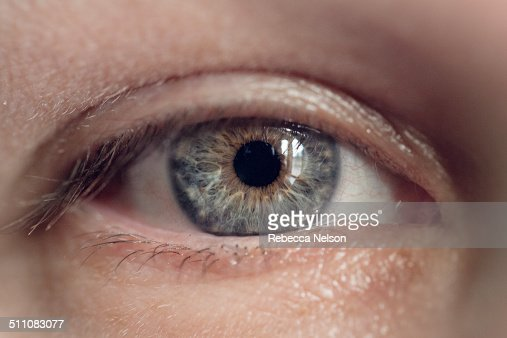 macro shot of woman's eye