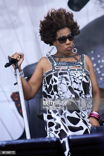Macy Gray performing on stage during the Rock en Seine music festival on August 30 2009 in Paris France