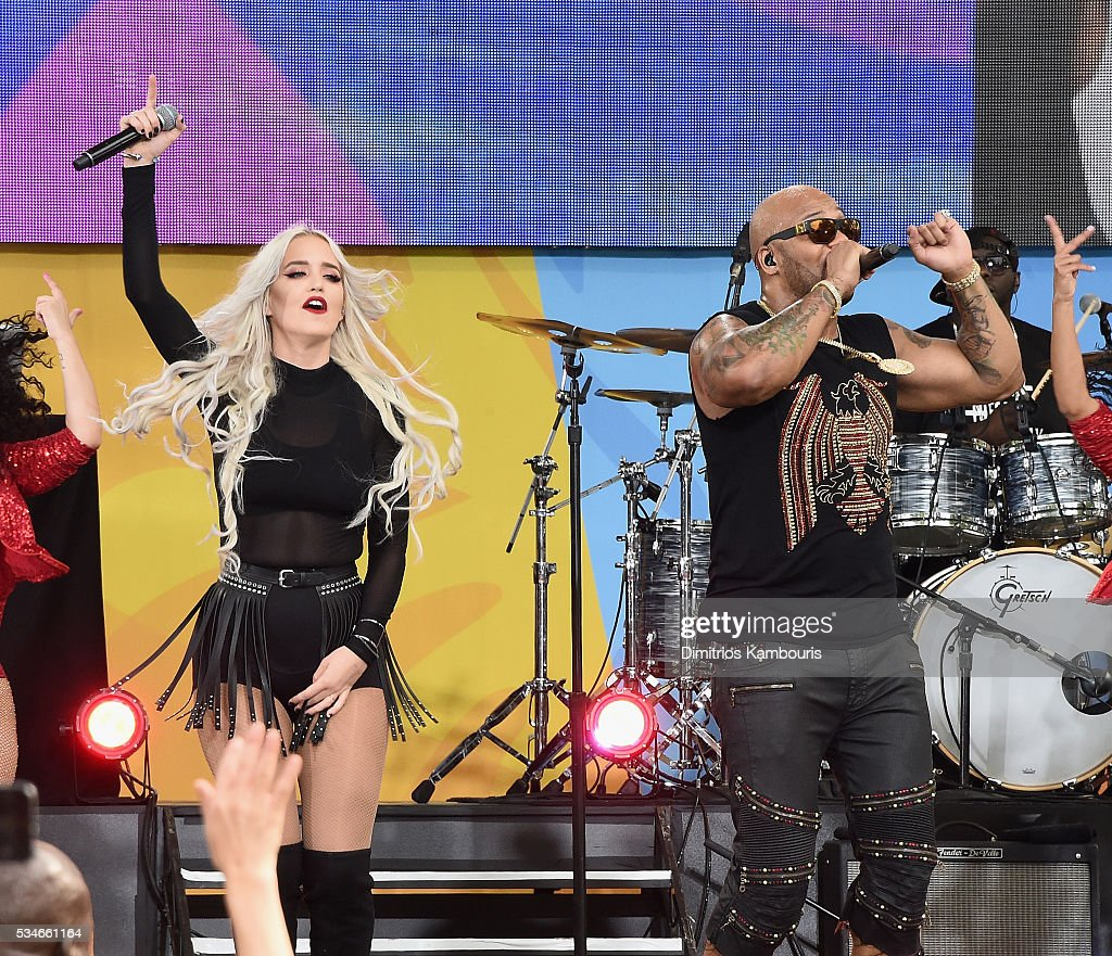 Macy Kate and <a gi-track='captionPersonalityLinkClicked' href=/galleries/search?phrase=Flo+Rida&family=editorial&specificpeople=4456012 ng-click='$event.stopPropagation()'>Flo Rida</a> perform during ABC's 'Good Morning America' 2016 Summer Concert Series at SummerStage at Rumsey Playfield, Central Park on May 27, 2016 in New York City.