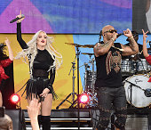 Macy Kate and Flo Rida perform during ABC's 'Good Morning America' 2016 Summer Concert Series at SummerStage at Rumsey Playfield Central Park on May...