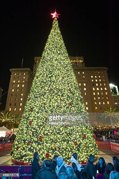 Macy's 25th annual Great Tree Lighting at Union Square on November 27 2015 in San Francisco California
