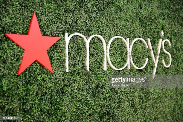 Macy's branding is displayed at day one of Fashion and Beauty during the 2017 BET Experience at Los Angeles Convention Center on June 24 2017 in Los...
