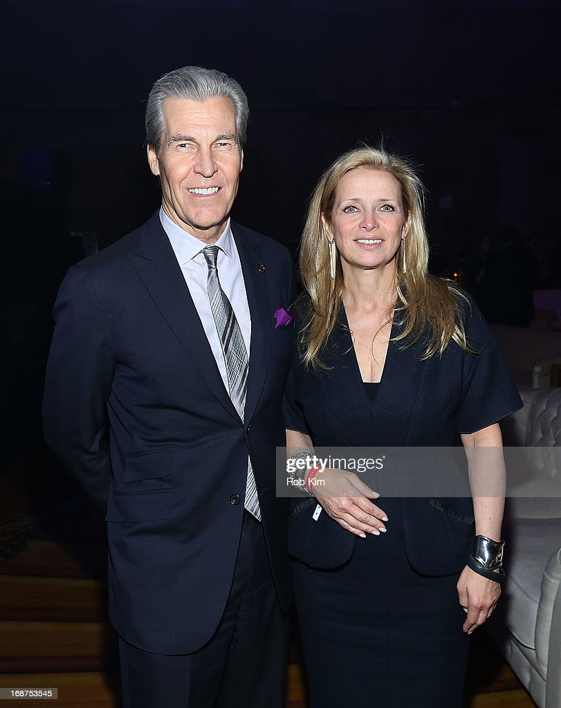 Macy's CEO Terry J. Lundgren (L) and Martine Reardon, Macy's Chief Marketing Officer, attend Macy's launches 'American Icons' at Gotham Hall on May 14, 2013 in New York City.