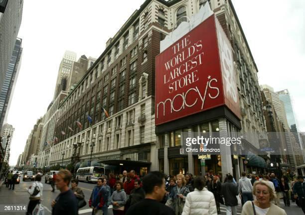 Macy's department store is seen October 17 2003 in New York City