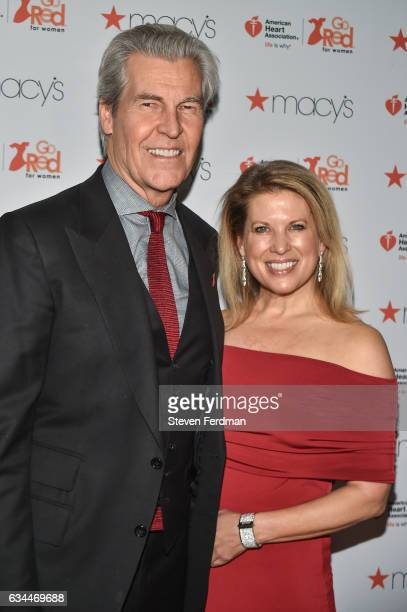 Macy's Inc Chairman and CEO Terry Lundgren and Tina Stephan arrive at American Heart Association's Go Red For Women Red Dress Collection during New...