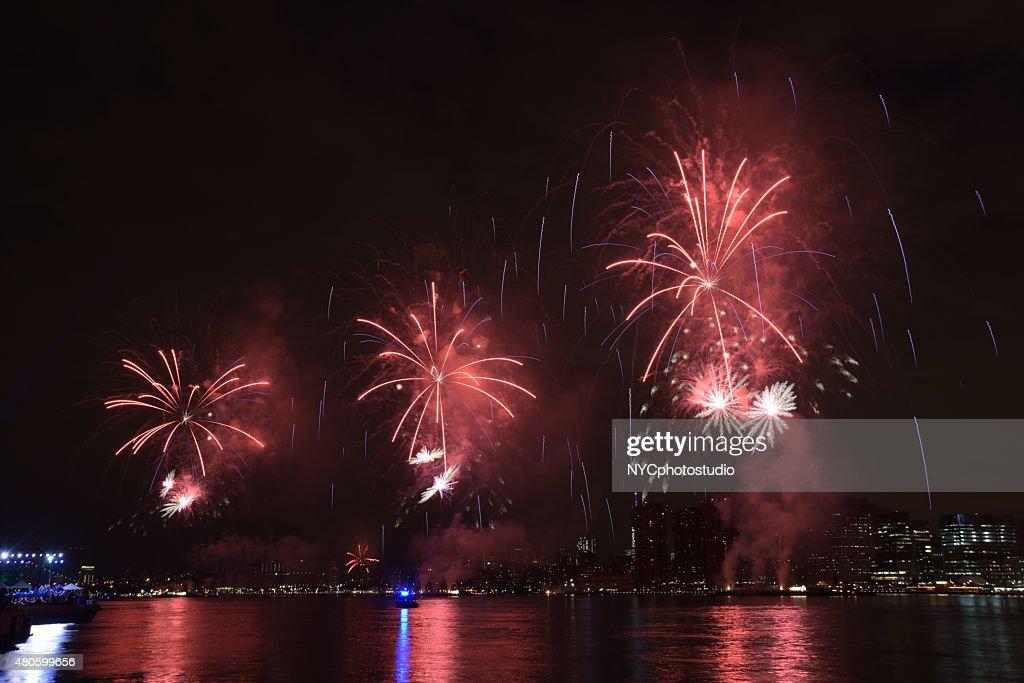macys july 4th New york City fireworks show : Stock Photo