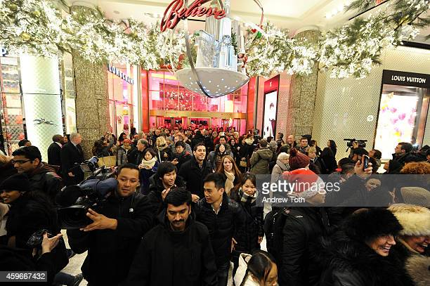 Macy's opens it's doors at 6pm for Black Friday on November 27 2014 in New York City
