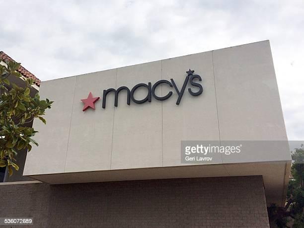 Macys storefront sign