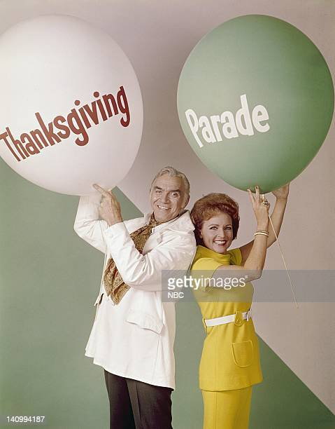 Macy's Thanksgiving Day Parade Pictured Parade hosts Lorne Greene Betty White Photo by NBCU Photo Bank