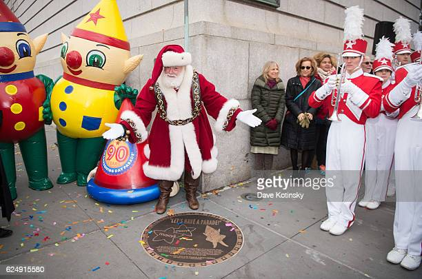 Macy's Unveils A Starting Line Plaque On The Upper West Side Of New York City To Commemorate The 90th Macy's Thanksgiving Day Parade on November 21...