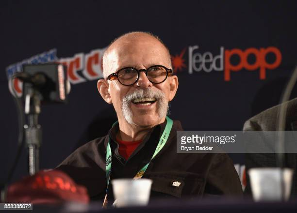 Mad artist Dick DeBartolo attends the Mad Magazine Celebrates 65Year Legacy With Legendary Creative Team Reunion at New York Comic Con on October 6...