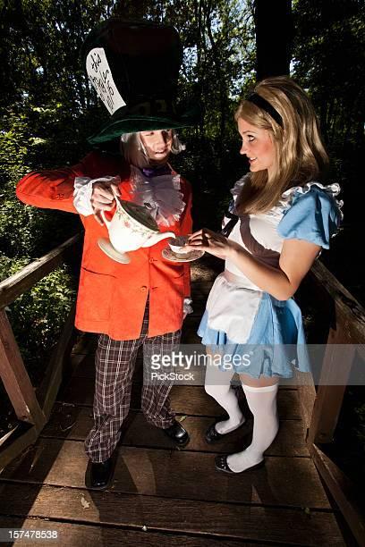 Mad Hatter Serving Alice Tea