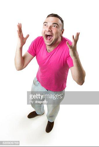Mad joy jubilation : Stock Photo