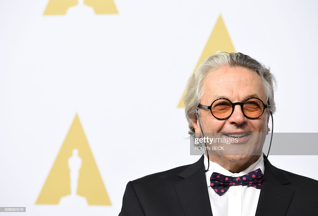 Fury Road' director George Miller, nominated for Best Director and Best Picture, arrives for the 88th Oscar Nominees Luncheon in Beverly Hills, California, February 8, 2016. / AFP / ROBYN BECK