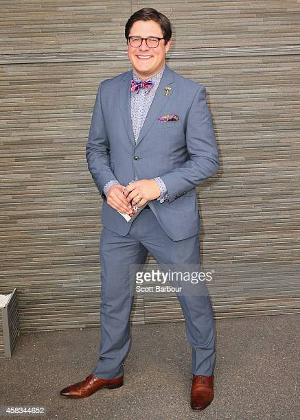 Mad Men actor Rich Sommer attends on Melbourne Cup Day at Flemington Racecourse on November 4 2014 in Melbourne Australia
