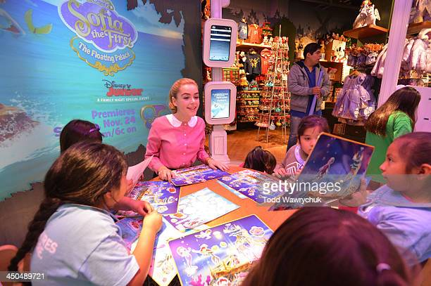 FIRST 'Mad Men' actress Kiernan Shipka who guest stars as Oona the mermaid in Disney Junior's 'Sofia the First The Floating Palace' primetime special...