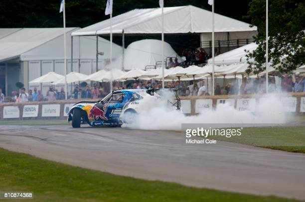'Mad Mike' Whiddett in his 1200 bhp Mazda MX5 during the Goodwood festival of Speed at Goodwood on June 30th 2017 in Chichester England