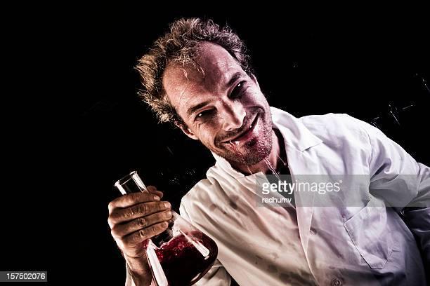Mad Scientist Drinking Potion