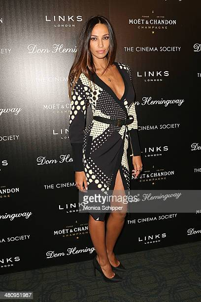 Madalina Diana Ghenea attends The Cinema Society Links of London screening of Fox Searchlight Pictures' 'Dom Hemingway' at Landmark Sunshine Cinema...