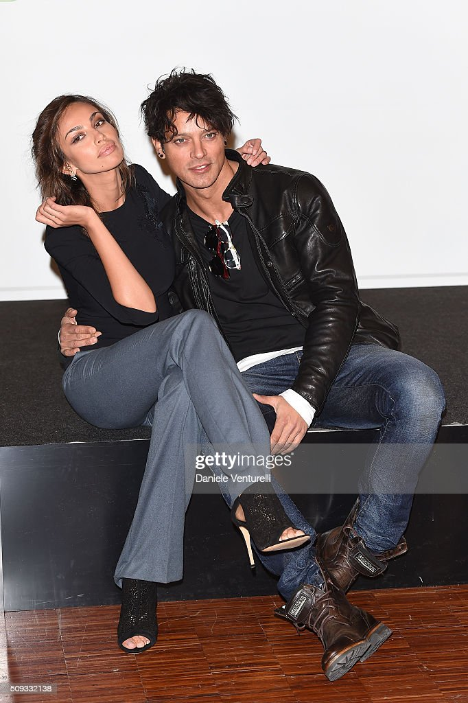 Madalina Ghenea and <a gi-track='captionPersonalityLinkClicked' href=/galleries/search?phrase=Gabriel+Garko&family=editorial&specificpeople=4811088 ng-click='$event.stopPropagation()'>Gabriel Garko</a> attend a photocall at 66. Sanremo Festival on February 10, 2016 in Sanremo, Italy.