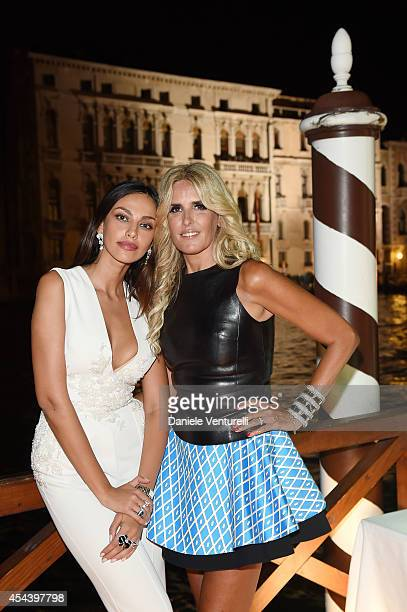 Madalina Ghenea and Tiziana Rocca attend Tiziana Rocca Birthday Party during the 71st Venice Film Festival at Centurion Palace Hotel on August 30...