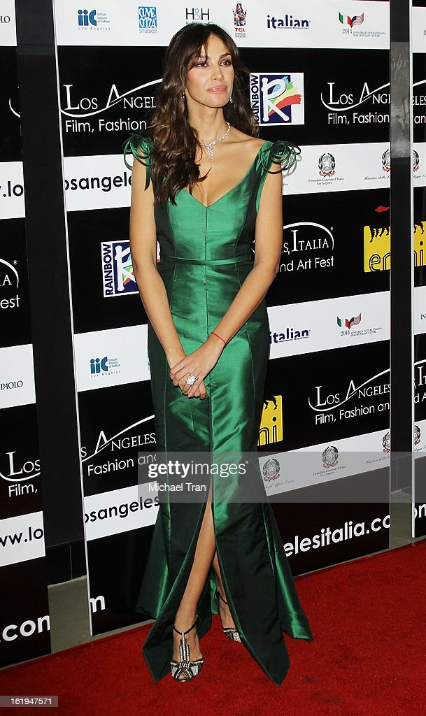 Madalina Ghenea arrives at The 8th Annual Los Angeles, Italia Film, Fashion And Art Festival held at Chinese 6 Theatres on February 17, 2013 in Hollywood, California.