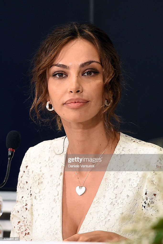 Madalina Ghenea attends a photocall at 66. Sanremo Festival on February 13, 2016 in Sanremo, Italy.