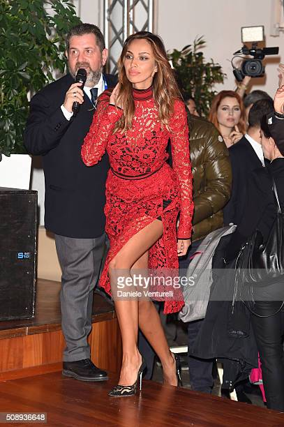 Madalina Ghenea attends a photocall for 66 Sanremo Festival on February 7 2016 in Sanremo Italy