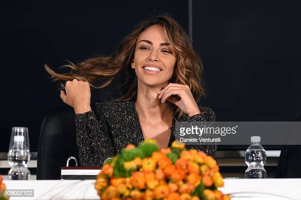 Madalina Ghenea attends a photocall for 66 Sanremo Festival on February 8 2016 in Sanremo Italy