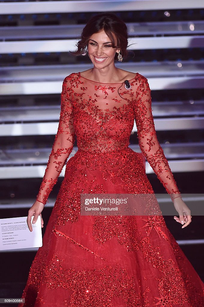 Madalina Ghenea attends second night of the 66th Festival di Sanremo 2016 at Teatro Ariston on February 10, 2016 in Sanremo, Italy.