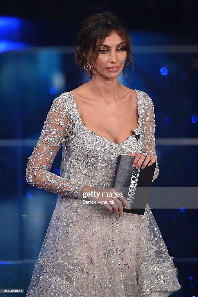 Madalina Ghenea attends second night of the 66th Festival di Sanremo 2016 at Teatro Ariston on February 10, 2016 in Sanremo, Italy.