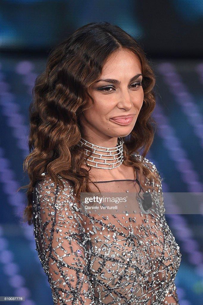 Madalina Ghenea attends the closing night of 66th Festival di Sanremo 2016 at Teatro Ariston on February 13, 2016 in Sanremo, Italy.