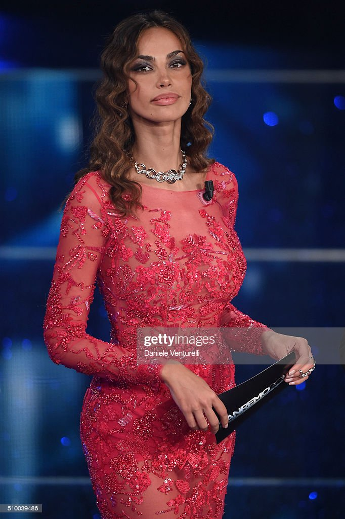 Madalina Ghenea attends the closing night of 66th Festival di Sanremo 2016 at Teatro Ariston on February 13, 2016 in Sanremo, Italy.