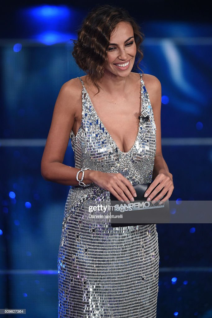 Madalina Ghenea attends the fourth night of the 66th Festival di Sanremo 2016 at Teatro Ariston on February 12, 2016 in Sanremo, Italy.
