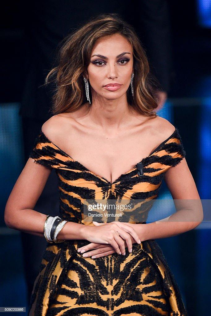 Madalina Ghenea attends the opening night of the 66th Festival di Sanremo 2016 at Teatro Ariston on February 9, 2016 in Sanremo, Italy.